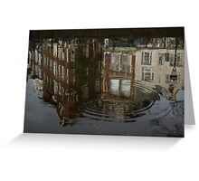 Raindrops, Ripples and Fabulous Reflections of Amsterdam Canal Houses Greeting Card