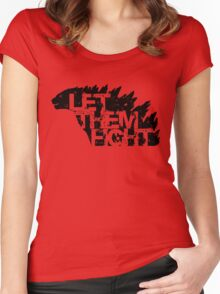 Let Them Fight Women's Fitted Scoop T-Shirt