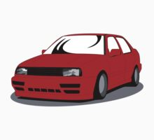 MK3 Jetta Graphic Red One Piece - Short Sleeve