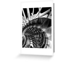 Architecture 101 fractal structure, black, white Greeting Card