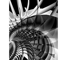 Architecture 101 fractal structure, black, white Photographic Print
