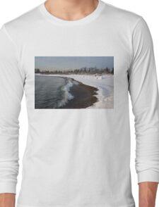 Winter Beach - Lake Ontario, Toronto, Canada Long Sleeve T-Shirt