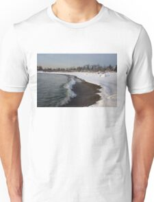 Winter Beach - Lake Ontario, Toronto, Canada Unisex T-Shirt