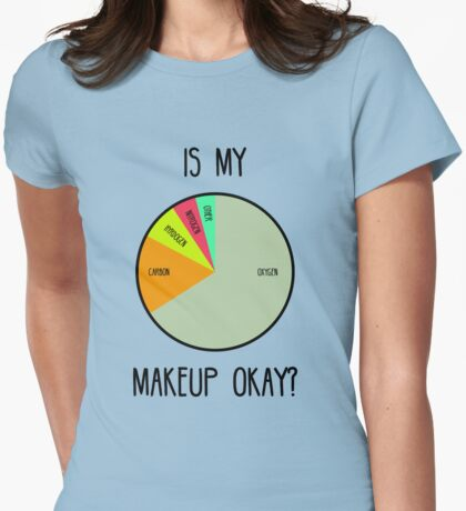 Is My Makeup Okay? Womens Fitted T-Shirt