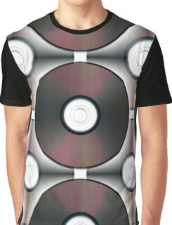 Seamless pattern made of CDs Graphic T-Shirt