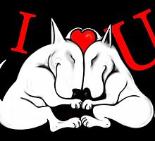 English Bull Terrier Valentines Day Card by Sookiesooker