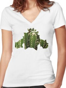 Cacnea used Needle Arm Women's Fitted V-Neck T-Shirt