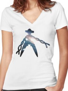 Deoxys used Psychic Women's Fitted V-Neck T-Shirt