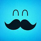 Funny Cute Mustache Face  by badbugs