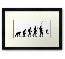 Evolution Of Man and Fishing Framed Print