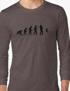 Evolution Of Man and Fishing Long Sleeve T-Shirt