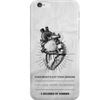 "5 seconds of summer ""jet black heart"" iphone case iPhone Case/Skin"