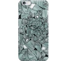 Floral Abstract Line Design iPhone Case/Skin