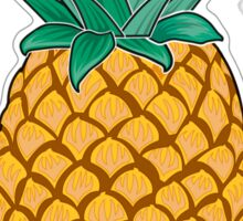 Hawaiian Pineapple wit Flowers Sticker