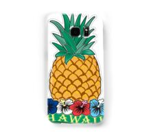 Hawaiian Pineapple wit Flowers Samsung Galaxy Case/Skin