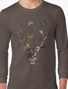 The Stag & Butterflies Long Sleeve T-Shirt