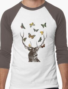 The Stag & Butterflies Men's Baseball ¾ T-Shirt