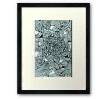 Floral Abstract Line Design Framed Print