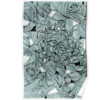 Floral Abstract Line Design Poster