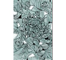 Floral Abstract Line Design Photographic Print