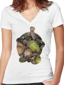 Seedot used Nature Power Women's Fitted V-Neck T-Shirt