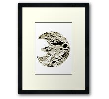 Lunatone used Stone Edge Framed Print