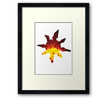 Solrock used Fire Spin Framed Print