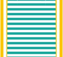 sun striped rocket Sticker