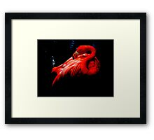 painted red  Framed Print