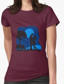 full moon liebespaar nature Womens Fitted T-Shirt