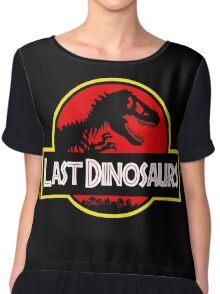 Last Dinosaurs Jurassic Park Chiffon Top