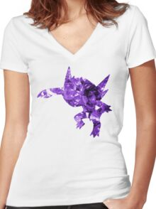 Sableye used Shadow Ball Women's Fitted V-Neck T-Shirt