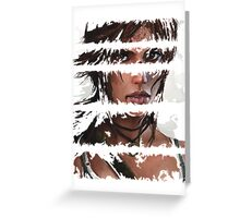 Lara Croft Torn Greeting Card