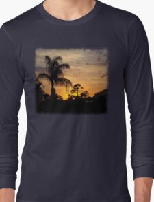 Fast Moving Clouds at Sunset Long Sleeve T-Shirt