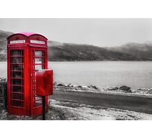 Old Red British Telephone Kiosk Photographic Print