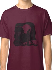 full moon liebespaar nature Classic T-Shirt