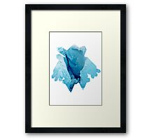 Regice used Blizzard Framed Print