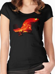 Groudon used Earthquake Women's Fitted Scoop T-Shirt