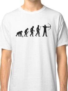 Funny Evolution Of Man and Archery Classic T-Shirt