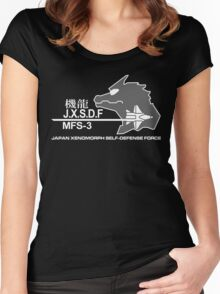 JXSDF Japanese Xenomorph Self-Defense Force GODZILLA VS MECHAGODZILLA Japan Movie  Women's Fitted Scoop T-Shirt