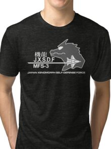 JXSDF Japanese Xenomorph Self-Defense Force GODZILLA VS MECHAGODZILLA Japan Movie  Tri-blend T-Shirt