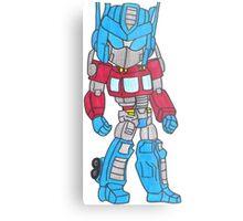 Chibi Optimus Prime Metal Print