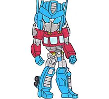 Chibi Optimus Prime Photographic Print