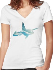 Latios used Luster Purge Women's Fitted V-Neck T-Shirt