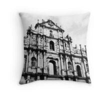 Church ruins Throw Pillow