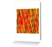 WAVY-1 (Reds, Oranges, Yellows & Greens)-(9000 x 9000 px) Greeting Card
