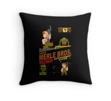 Super Merle Brothers Throw Pillow