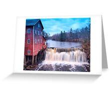 Dell Mills Falls Greeting Card