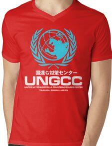 UNGCC GODZILLA VS MECHAGODZILLA Japanese Movie United Nations Godzilla Countermeasures Center JXSDF Mens V-Neck T-Shirt