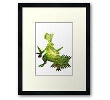 Sceptile used Leaf Storm Framed Print